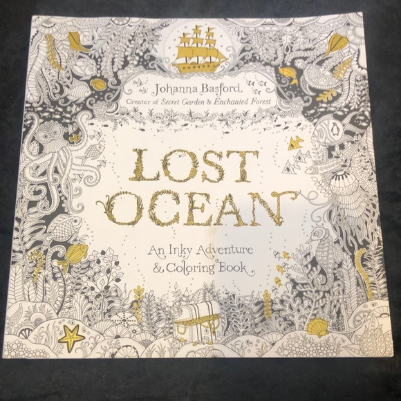 Other Lost Ocean Adult Coloring Book Poshmark